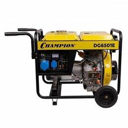 Электрогенераторы - Дизельный генератор Champion DG6501E, 0