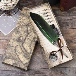 Письменные и чертежные принадлежности - Ручка - перо каллиграфия (чернила) зеленая, 0