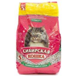 Наполнители для туалетов - Сибирская Кошка Комфорт 5 л Наполнитель…, 0