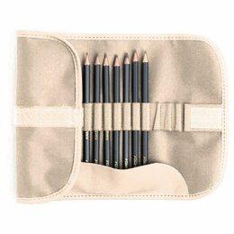 """Канцелярские принадлежности - Набор карандашей Малевичъ """"Graf'Art"""" в пенале-скрутке, цвет: бежевый, 8 штук, 0"""