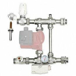 Комплектующие для радиаторов и теплых полов - Узел насосно-смесительный Е011-1, с термогол. и…, 0