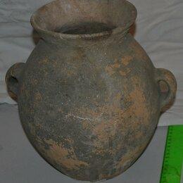 Посуда - Средневековый керамический кувшин, целый, 0