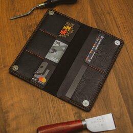 Кошельки - Тонкое портмоне кошелек из кожи. Шью из кожи, 0