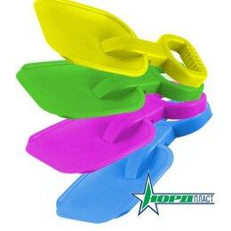 Лопаты - Нордпласт 128/1/2/3/4 Лопата 36см ярко-розовая, голубая, салатовая, желтая, 0