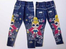 Капри и бриджи - Лосины для девочки, джинсовый принт, 0