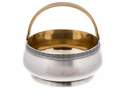 Другое - Ваза (конфетница) с ручкой, серебро 875 пр., 0
