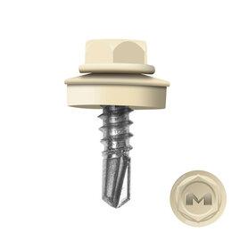 Шурупы и саморезы - Саморез кровельный DAXMER по металлу RAL1015 Слоновая кость 5,5*19мм, 0