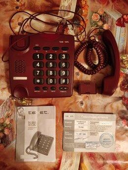 Проводные телефоны - Рабочий стационарный телефон texet TX-202, 0
