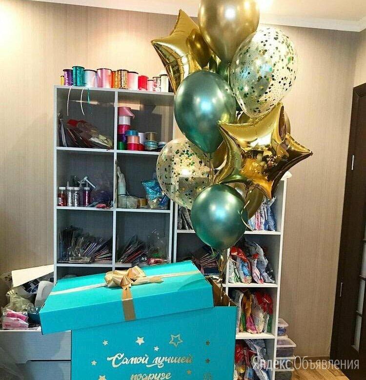 Коробка с шарами по цене 3210₽ - Воздушные шары, фото 0