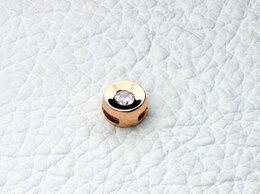 Кулоны и подвески - Подвеска с фианитом из красного золота, 0