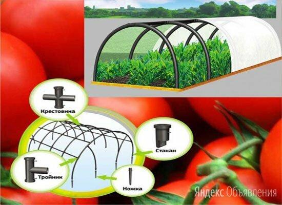 Парник дачный ПДМ большой 7 секций пластиковый для рассады и овощей по цене 2500₽ - Парники и дуги, фото 0