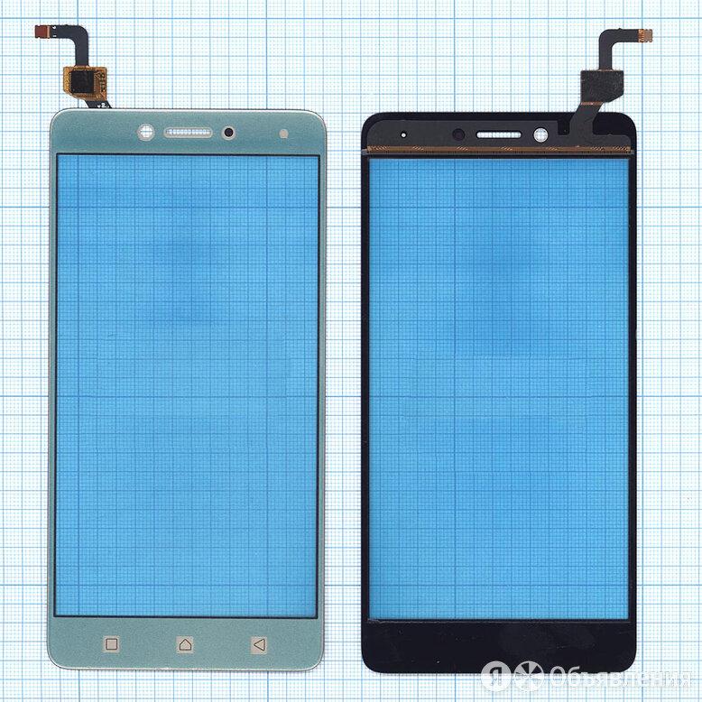 Сенсорное стекло (тачскрин) для Lenovo K6 Note (K53A48) золотое по цене 400₽ - Запчасти и аксессуары для планшетов, фото 0