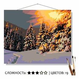 Рукоделие, поделки и товары для них - Картина по номерам Зимнее солнце (40x50 см), 0