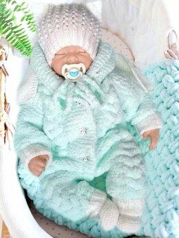 Комбинезоны - Плюшевый комбинезон для новорожденных , 0