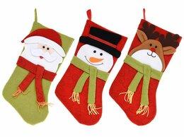 Новогодний декор и аксессуары - Носок для подарков ЧУДО В ШАРФИКЕ, 45 см, разные…, 0