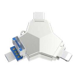 USB Flash drive - Флеш накопитель 4 в 1 iDragon U016 Lightning / Type-C / microUSB / USB 3.0 32Gb, 0