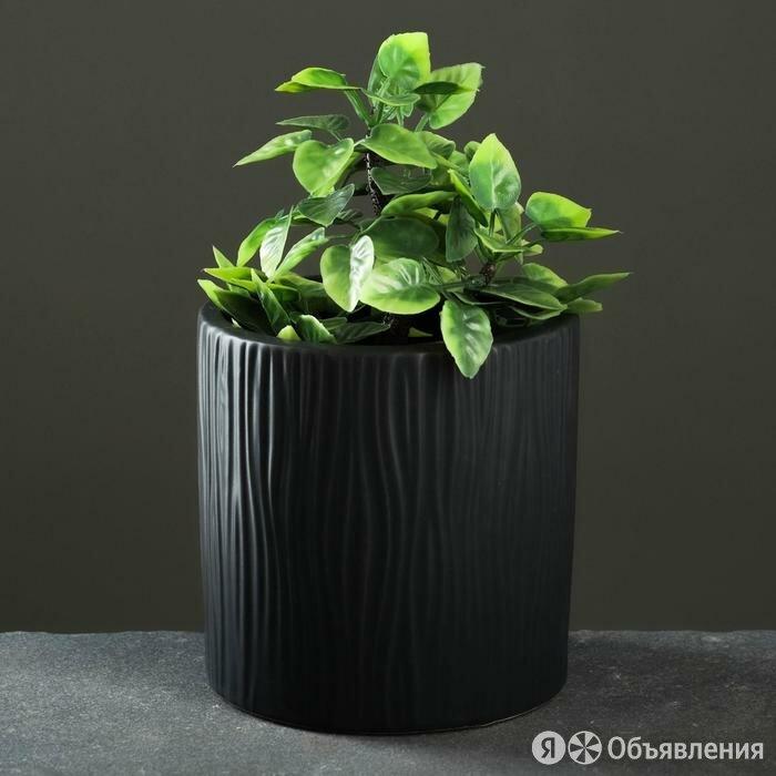 Кашпо керамическое 'Дерево', темное 15*15см по цене 1004₽ - Кровати, фото 0