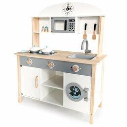 Игрушечная мебель и бытовая техника - Деревянная кухня со стиральной машиной, 0