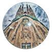 Магнит стекл. круглый 2955-11 Саграда Фамилия 5см по цене 60₽ - Сувениры, фото 2