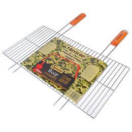 Решетки - Решетка-гриль BOYSCOUT гигант, веер в подарок, 55 (+5) х 57 х 30 см, 0