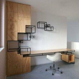 Столы и столики - Стол и стеллаж в стиле лофт, 0