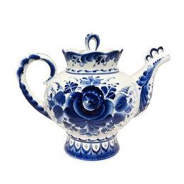 Заварочные чайники - Чайники, сахарницы Гжельский фарфоровый завод Чайник Подарочный большой с тем..., 0