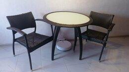 Плетеная мебель - Стол из ротанга (2 стула в подарок) , 0