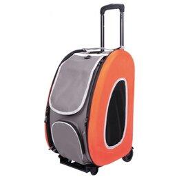 Транспортировка, переноски - Ibiyaya складная сумка-тележка 3 в 1 для собак до 8 кг сумка рюкзак Оранжевый, 0