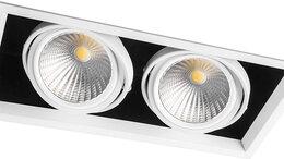 Встраиваемые светильники - Светильник карданный светодиодный 2x30W 5400 Lm,…, 0