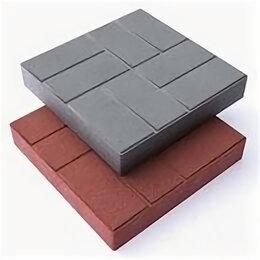 Тротуарная плитка, бордюр - Плитка ППК тротуарная Дачная «8 кирпичей» 250х250х20 (кв.м/16 шт.) (Серый), 0