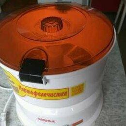 Овощечистки, рыбочистки - Бытовая овощечистка картофелечистка Aresa P-01 электрическая машинка, 0