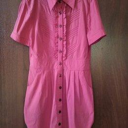 Рубашки и блузы - Удлиненная рубашка р-р 36-38, 0