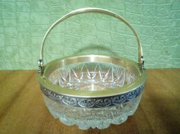 Посуда - Серебро 875 проба хрусталь, 0