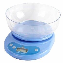 Прочая техника - Весы кухонные электронные, макс. вес 5кг, цена деления 1гр (син.) питание 2хАА, , 0