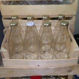 Ёмкости для хранения - бутылки стеклянные с крышками, 8 шт., 0
