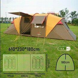 Палатки - Шестиместная палатка с двумя комнатами.(195+220+195)*230*180cm, 0