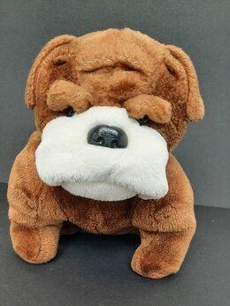 Мягкие игрушки - Собака , Бульдог, мягкая игрушка , 0