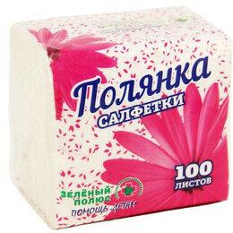 Бумажные салфетки, носовые платки - COMFY Салфетки ПОЛЯНКА 100шт/уп, 0