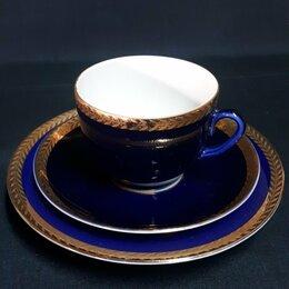 Кружки, блюдца и пары - Чайное трио ЛФЗ, 0