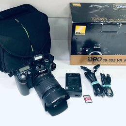 Фотоаппараты - Фотоаппарат Nikon D90 18-105 VR kit , 0