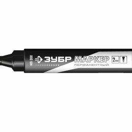 Канцелярские принадлежности - Разметочные карандаши, фломастеры ЗУБР Маркер перманентный МП-300 черный заос..., 0