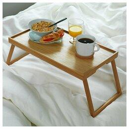 Подносы - Поднос-столик, бамбук, 0