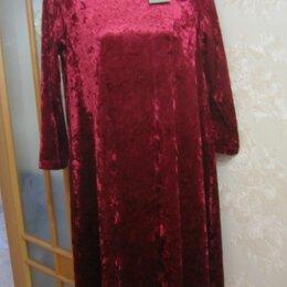 Платья - Платье бархатное . Новое, 0