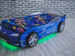 Кроватки - Кровать машина с фарами и колесами, 0