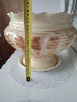 Горшки, подставки для цветов - Горшок для цветов керамический с поддоном., 0