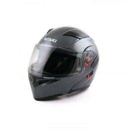 Мотоэкипировка - Шлем ATAKI (Атаки) JK902 Carbon модуляр, 0