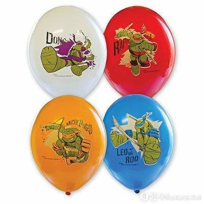 Шары с многоцветным рисунком Черепашки, 36 см по цене 100₽ - Воздушные шары, фото 0