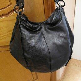 Сумки - Сумка - мешок  черная, натуральная кожа, 0