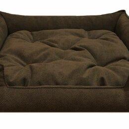 Лежаки, домики, спальные места - Уют Fashion Лежанка квадратная велюровая, синтешар, шоколадная 60х60х16см,, 0