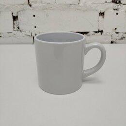 Кружки, блюдца и пары - Кружка кофейная белая  h 7,2 см, 180 мл, d 7 см., 0